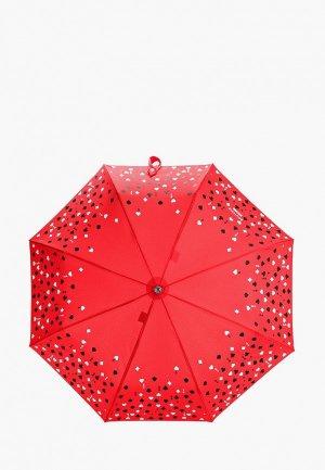Зонт складной Boutique Moschino. Цвет: красный