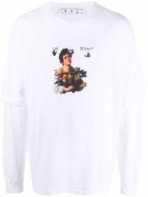 Футболка Caravaggio Boy Off-White. Цвет: белый