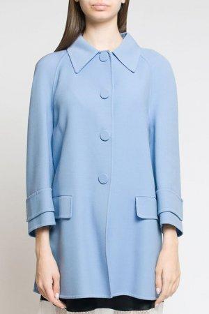 Пальто Prada. Цвет: голубой