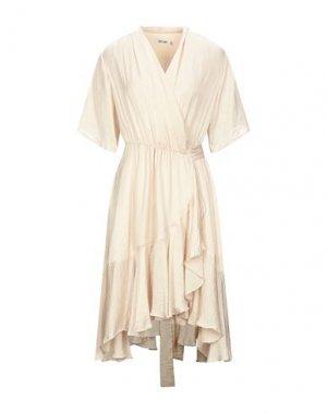 Платье до колена DRY LAKE.. Цвет: бежевый