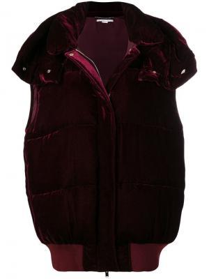 Куртка-бомбер свободного кроя Stella McCartney. Цвет: красный