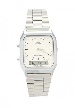 Часы Casio Collection AQ-230A-7D. Цвет: серебряный