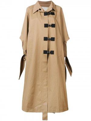 Расклешенное пальто в стиле оверсайз Walk Of Shame. Цвет: нейтральные цвета