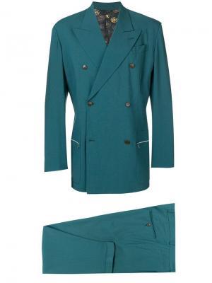 Костюм-двойка с заостренными лацканами Jean Paul Gaultier Vintage. Цвет: зеленый