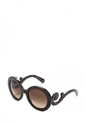 Очки солнцезащитные Prada PR 27NS 2AU6S1. Цвет: коричневый