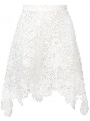 Кружевная юбка lma Antik Batik. Цвет: белый