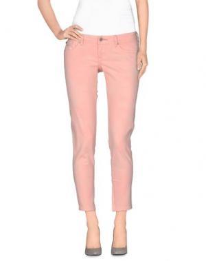 Джинсовые брюки-капри PORTOBELLO by PEPE JEANS. Цвет: лососево-розовый