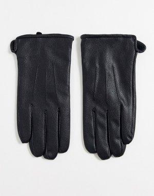 Перчатки для вождения из искусственной кожи -Черный Only & Sons