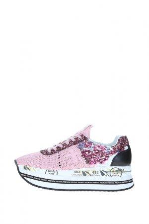 Кроссовки Premiata. Цвет: 3843 розовый, цветные пайетки