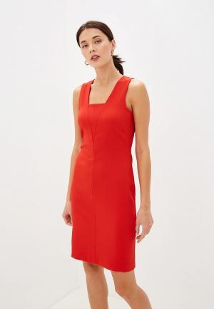 Платье Sisley. Цвет: красный