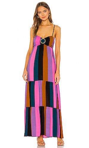 Макси платье juniper Show Me Your Mumu. Цвет: розовый, пурпурный
