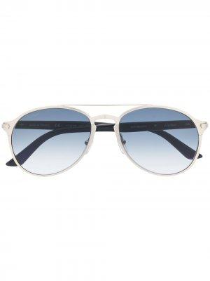 Солнцезащитные очки-авиаторы Decor Cartier. Цвет: черный