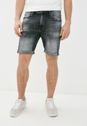 Шорты джинсовые G-Star. Цвет: серый