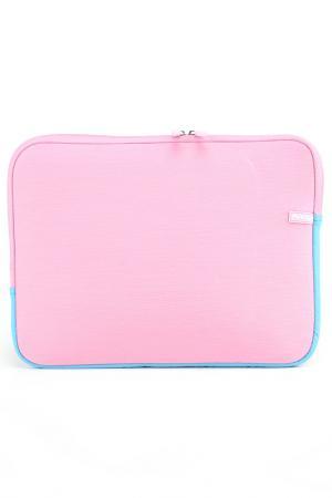 Чехол для ноутбука PortCase. Цвет: розовый