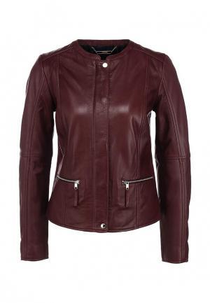 Куртка кожаная Tommy Hilfiger. Цвет: бордовый