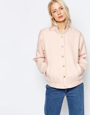 Розовая куртка-пилот Inglewood Ganni. Цвет: розовый