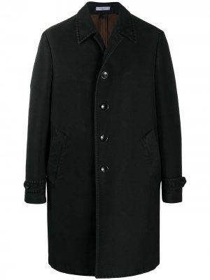 Пальто прямого кроя Boglioli. Цвет: черный