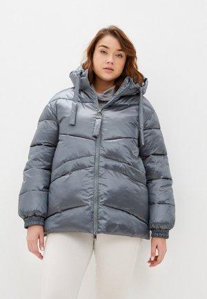 Куртка утепленная Снежная Королева. Цвет: бирюзовый