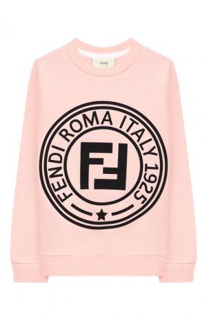 Хлопковый свитшот Fendi. Цвет: розовый