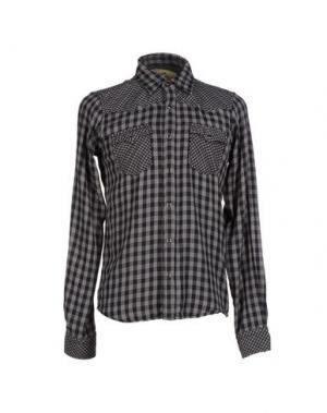 Pубашка JAPAN RAGS. Цвет: свинцово-серый
