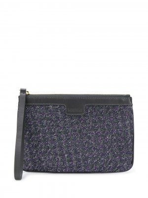 Embroidered Zipped Clutch Missoni. Цвет: серый