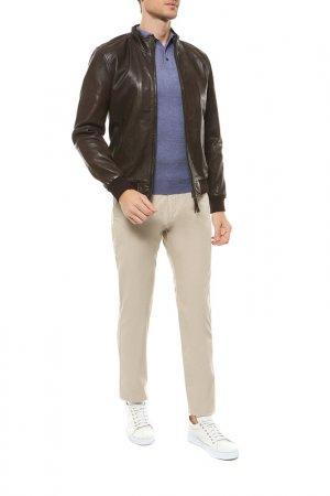 Кожаная куртка PROLEATHER. Цвет: коричневый