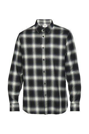 Рубашка Saint Laurent Paris. Цвет: серый