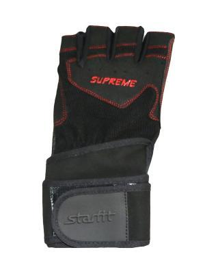 Перчатки атлетические STARFIT SU-123, черный. Цвет: черный