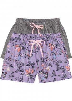 Шорты пижамные (2 шт.) bonprix. Цвет: лиловый