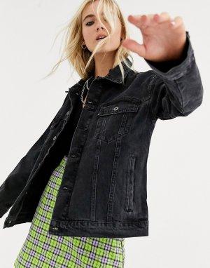 Черная джинсовая куртка -Черный The Ragged Priest