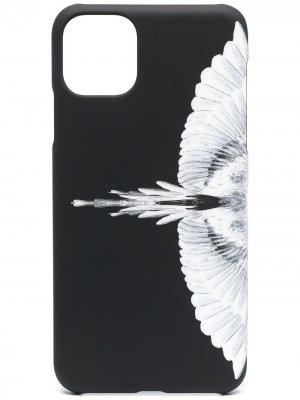 Чехол для iPhone 11 Pro Max с принтом Wings Marcelo Burlon County of Milan. Цвет: черный