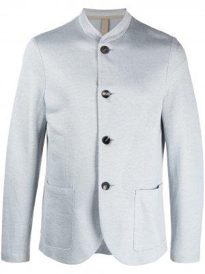 Пиджак с воротником-стойкой Harris Wharf London. Цвет: синий