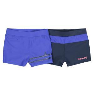 2 плавок-боксеров с рисунком спереди, 3-12 лет LA REDOUTE COLLECTIONS. Цвет: темно-синий + синий