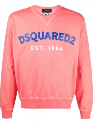 Толстовка с логотипом Dsquared2. Цвет: розовый