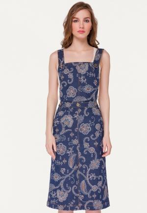 Платье джинсовое Stimage MENHADEE. Цвет: синий