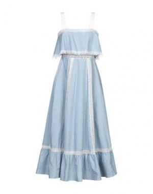 Платье длиной 3/4 BRIGITTE BARDOT. Цвет: небесно-голубой