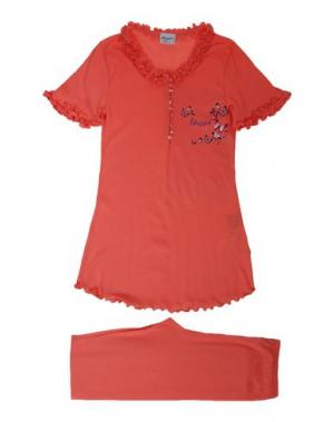 Пижама BLUGIRL BLUMARINE UNDERWEAR. Цвет: коралловый