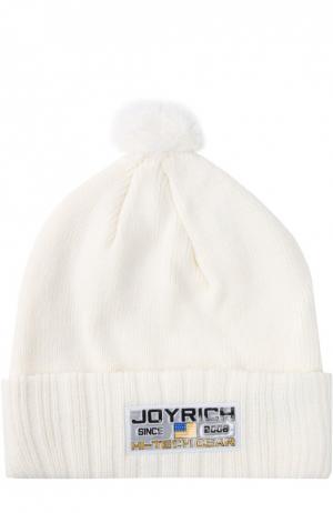 Шапка Joyrich. Цвет: белый