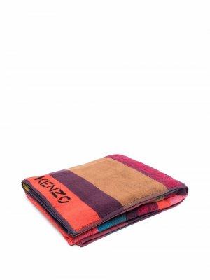 Stripe-pattern cotton towel Kenzo. Цвет: красный