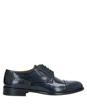 Обувь на шнурках BALDININI. Цвет: темно-синий