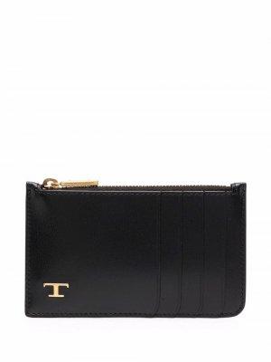 Tods кошелек с логотипом Tod's. Цвет: черный