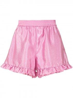 Шорты с оборками Stine Goya. Цвет: розовый