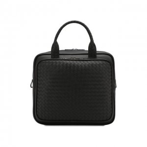 Кожаная дорожная сумка Bottega Veneta. Цвет: чёрный
