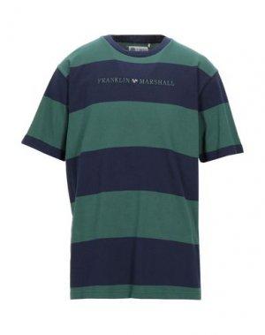 Футболка FRANKLIN & MARSHALL. Цвет: темно-зеленый