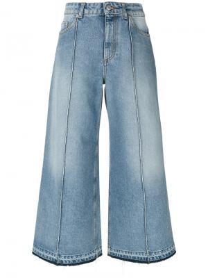 Укороченные широкие джинсы Alexander McQueen