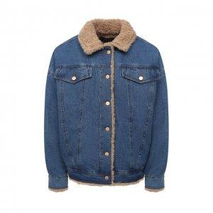 Джинсовая куртка J Brand. Цвет: синий