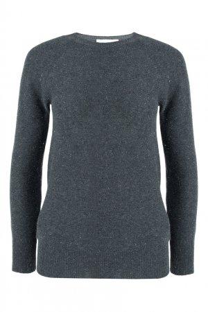 Серый шерстяной пуловер с рукавами реглан Fabiana Filippi. Цвет: серый