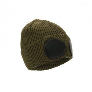 Хлопковая шапка C.P. Company. Цвет: хаки