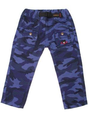 Хлопковые брюки для мальчика MIKI HOUSE. Цвет: синий