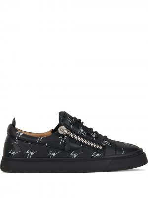 Высокие кроссовки Kriss Giuseppe Zanotti. Цвет: черный